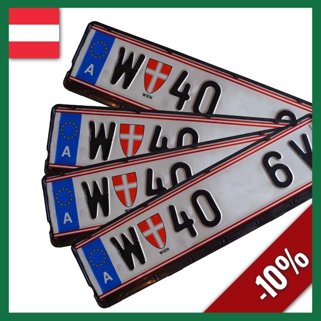 Wechselkennzeichen Rahmen – Österreich – 520×120