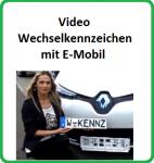 Wechselkennzeichenrahmen 'E-Mobil Video