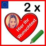 Herzaufkleber Österreich