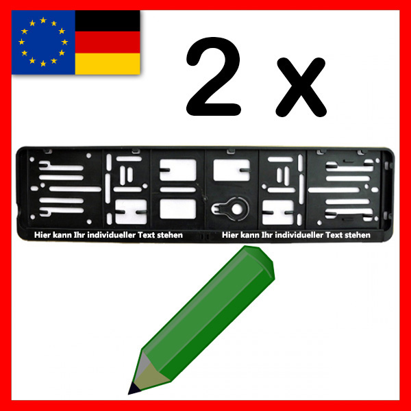 TOPPRODUKT: 2 persönliche Kfz-Kennzeichenhalter mit eigenem Text!