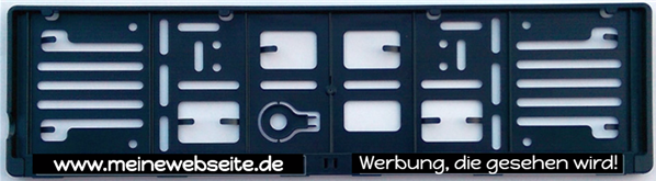 Kennzeichenrahmen beschriften www.label-aufkleber.de