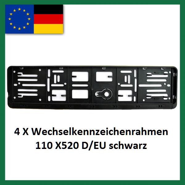 Wechselkennzeichenrahmen 4XD-EU