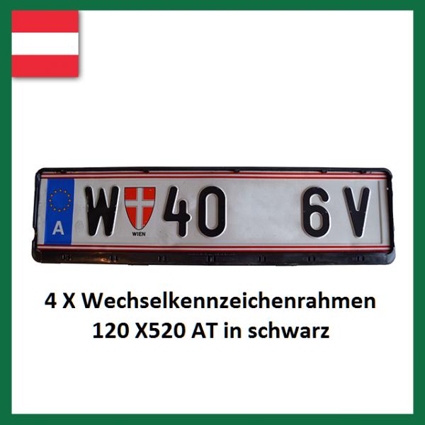 4 X Wechselkennzeichenrahmen Österreich