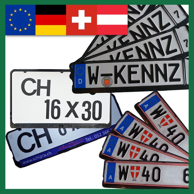 Wechselkennzeichenhalter – Sammelbestellungen