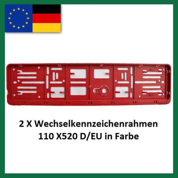 Wechselkennzeichenrahmen 2XD-EU. in Farbe png