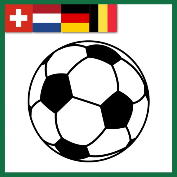 Wechselkennzeichen Rahmen Fußball WM