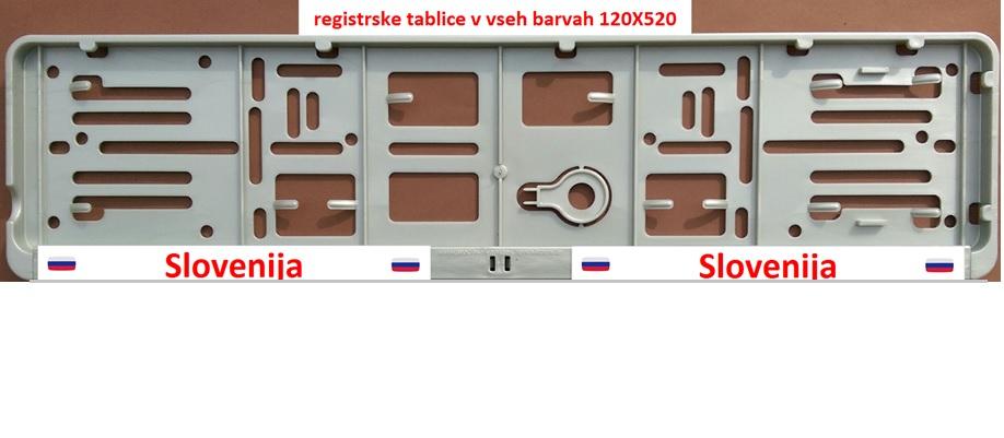 registrske tablice v vseh barvah 120X520