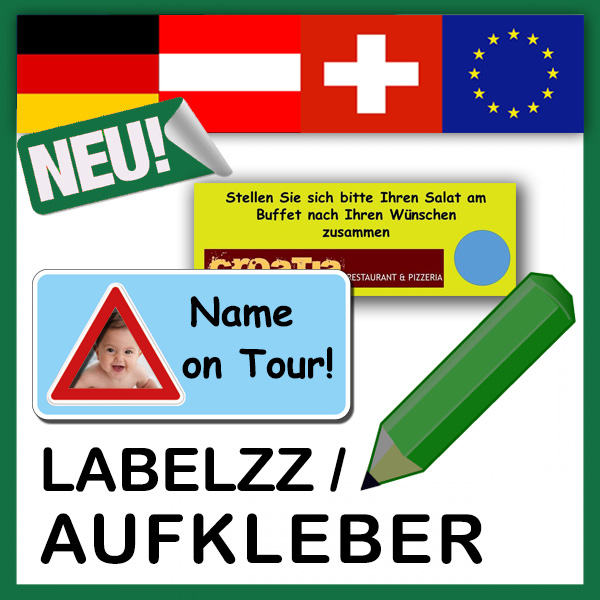Aufkleber / Label selbst gestalten